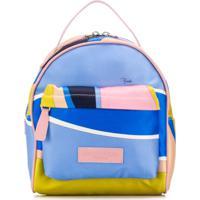 Emilio Pucci Junior Mochila Color Block - Azul
