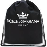 Dolce & Gabbana Kids Mochila Com Logo Estampado - Preto