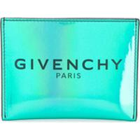 Givenchy Iridescent Logo Print Cardholder - Azul