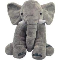 Elefante De Pelúcia Cinza 40Cm
