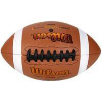 Bola Futebol Americano Wilson Gst Oficial Wtf1780Xb, Cor: Marrom/Branco/Preto, Tamanho: U