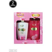 Kit 2Pçs Love Secret Loção Deo Coporal Body Splash Belle