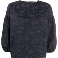 Ymc Floral Print Blouse - Azul