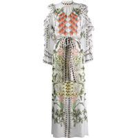 Temperley London Vestido De Seda Com Babados Na Gola - Branco