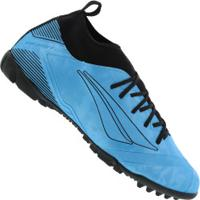 Chuteira Society Penalty Rx Locker Stealth Viii Tf - Adulto - Azul/Preto