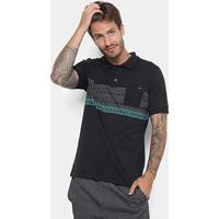 Camisa Polo Rusty Bearhave -81.16.0211 - Masculino-Preto