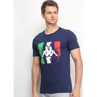 Camiseta Kappa Italian Masculina - Masculino-Marinho