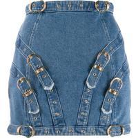 Versace Jeans Couture Minissaia Com Detalhe De Fivela - Azul