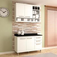 Cozinha Compacta New Vitoria 4 Pt 3 Gv Branco
