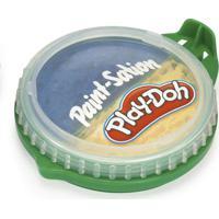 Conjunto De Artes - Play-Doh - Tinta Para Pintar - Pote 2 Em 1 - Azul E Amarelo - Fun