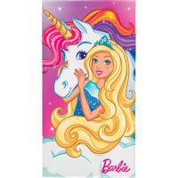 Toalha Infantil Barbie Reinos Mágicos Algodão Rosa