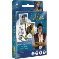 Conjunto De Jogos - Disney - Aladdin - Jogo Do Mico E Cartas Para Colorir - Copag