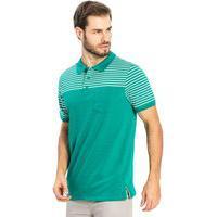 Camisa Polo Listras Rovitex Verde