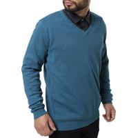 Suéter Masculino - Masculino-Azul