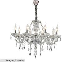 Lustre Glass- Incolor & Prateado- 49Xø51Cm- Bivohevvy