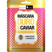 Máscara Facial Beauty 4 Fun Ouro E Caviar 1 Un - Unissex-Incolor