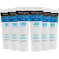 Kit Protetor Solar Facial Neutrogena Sun Fresh Fps - Unissex-Incolor