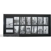 Painel Para 13 Fotos- Preto- 40X85X2Cm- Kaposkapos