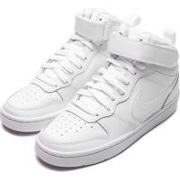 Tênis Nike Menino Court Borough Mid 2 Branco