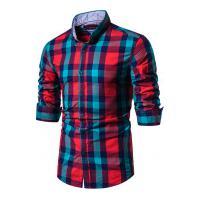 Camisa Xadrez Baytown Masculina - Vermelha E Verde