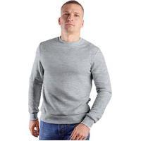 Blusa Careca Suéter Cinza Liso Gola Redonda Casaco De Frio Masculino Feminino Infantil E Adulto