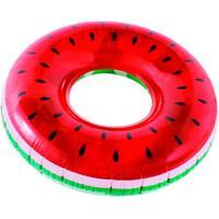 Boia Inflável Circular Bel Fix Melancia Gigante - Vermelho/Preto