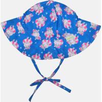 Chapéu Com Proteção Solar Fpu 50+ Ecoeplay Popotinha Azul