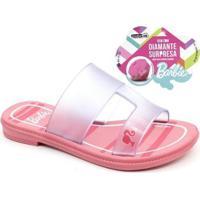 Rasteira Infantil Barbie Surprise Grendene 21825 Feminina - Feminino-Rosa