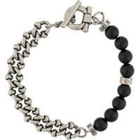 Salvatore Ferragamo Beaded-Chain Bracelet - Preto