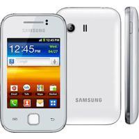 "Smartphone Samsung Galaxy Y Gt-S5360 - 4Gb - 2Mp - Tela 3"" - Android 2.3 - Wi-Fi - Branco"