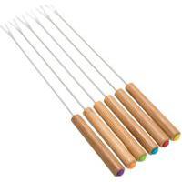 Jogo De Garfo Para Fondue Basic Bambu 6 Peças - Home Style