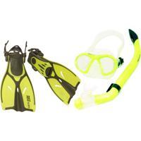 Conjunto Kids Máscara Snorkel Nadadeira - Seasub