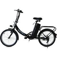 Bicicleta Elétrica Elektrabikes Flex Aro 20 Leve E Dobrável Preta