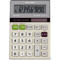 Calculadora Eletrônica Elsimate Sharp 10 Dígitos Branca Alimentação Solar E Bateria
