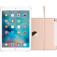 "Ipad Air 2 Apple Wi-Fi + Cellular 128Gb 4G Tela Retina De 9,7"" Ios 9 Dourado"