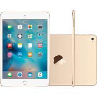 """Ipad Mini 4 Apple Wi-Fi 128Gb Tela Retina De 7,9"""" Câmera 8Mp E Processador M8 Dourado"""