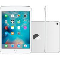 "Ipad Mini 4 Apple Wi-Fi 128Gb Tela Retina De 7,9"" Câmera 8Mp E Processador M8 Prata"