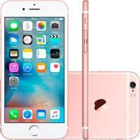 """Iphone 6S Plus Apple 128Gb Ouro Rosa 5,5"""" Retina 4G Ios 9 Chip A9 E Câmera De 12Mp"""