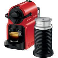 Máquina De Café Nespresso Inissia 110V Vermelha Com Aeroccino