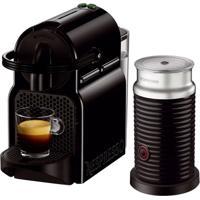 Máquina De Café Nespresso Inissia Preta 110V Com Aeroccino 3 Refresh