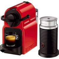 Máquina De Café Nespresso Inissia Vermelha Aeroccino 3 Refresh 220V