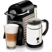 Máquina De Café Nespresso Pixie Steel Com Aeroccino / Cinza / 110V