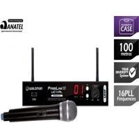 Microfone Waldman Sem Fio 1 Microfone Com Receptor Dinâmicos 16 Frequências Uc 116Pl
