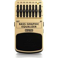 Pedal De Baixo Behringer Equalizador Beq700 - Chave On/Off Eletrônica E 7 Bandas De Equalização