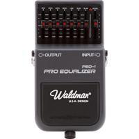 Pedal Para Guitarra Waldman Pro Equalizador Frequências De 100 Hz À 6.4 Khz E Volume Peq 1