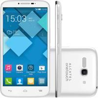 Smartphone Alcatel Ot-7047 Pop C9 Branco Dual Chip Android 4.2 Câmera 8Mpx