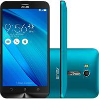 "Smartphone Asus Zenfone Go Live Azul 16Gb Tv Digital Tela De 5,5"" Quad Core Dual Chip E Camera 13Mp"