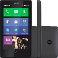 Smartphone Dual Chip Nokia X Desbloqueado Preto / X Platform 1.1 / 3G / 4Gb / Wi-Fi / Gps