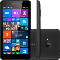 "Smartphone Microsoft Lumia 535 Dual 8Gb Windows Phone 8.1 3G Tela 5"" Wi Fi Câmera 5Mp Preto"