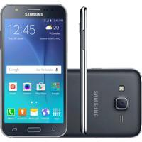 "Smartphone Samsung Galaxy J5 Duos Preto 5"" 4G 13Mp Quadcore 16Gb Com Flash Frontal"